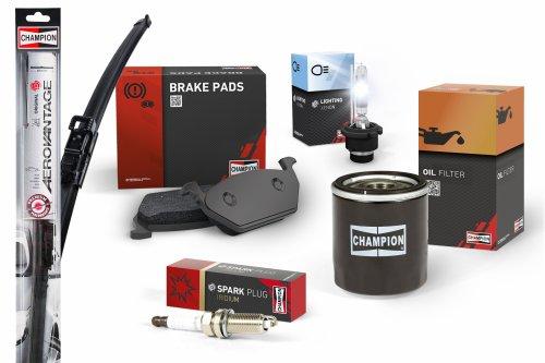 Champion® – к концу 2018 г. продуктовая линейка Champion пополнится тормозными компонентами, аккумуляторными батареями, лампами, фильтрами, щетками стеклоочистителей и свечами зажигания.