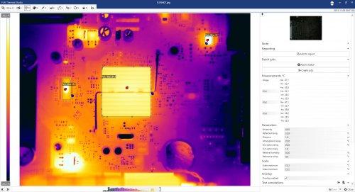 FLIR annonce la sortie du logiciel Thermal Studio permettant aux thermographes d'automatiser le traitement des images thermiques. dans - - - IMPRESSION 3D - USINE DU FUTUR. Intelligence artificielle. Circuit%20Board_ThermalStudio-%20Editing.jpg_ico500